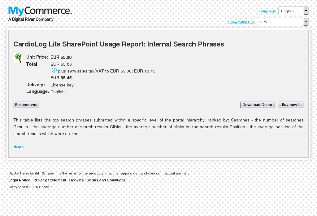 Cardiolog Lite Sharepoint Usage Report Internal Search Phrases Download