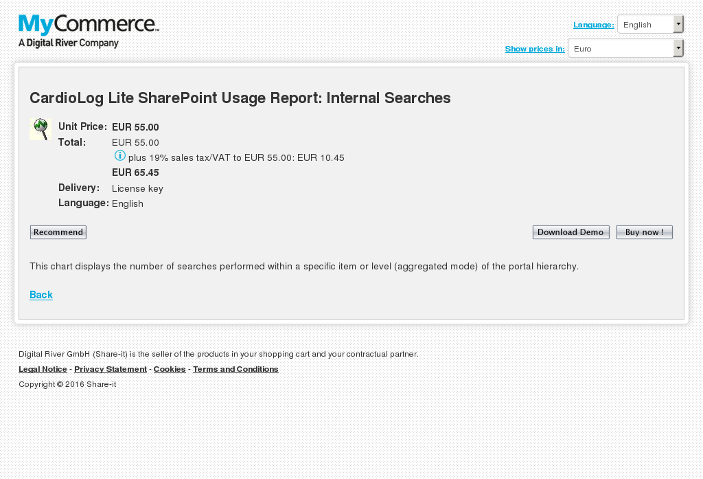 Cardiolog Lite Sharepoint Usage Report Internal Searches Alternative
