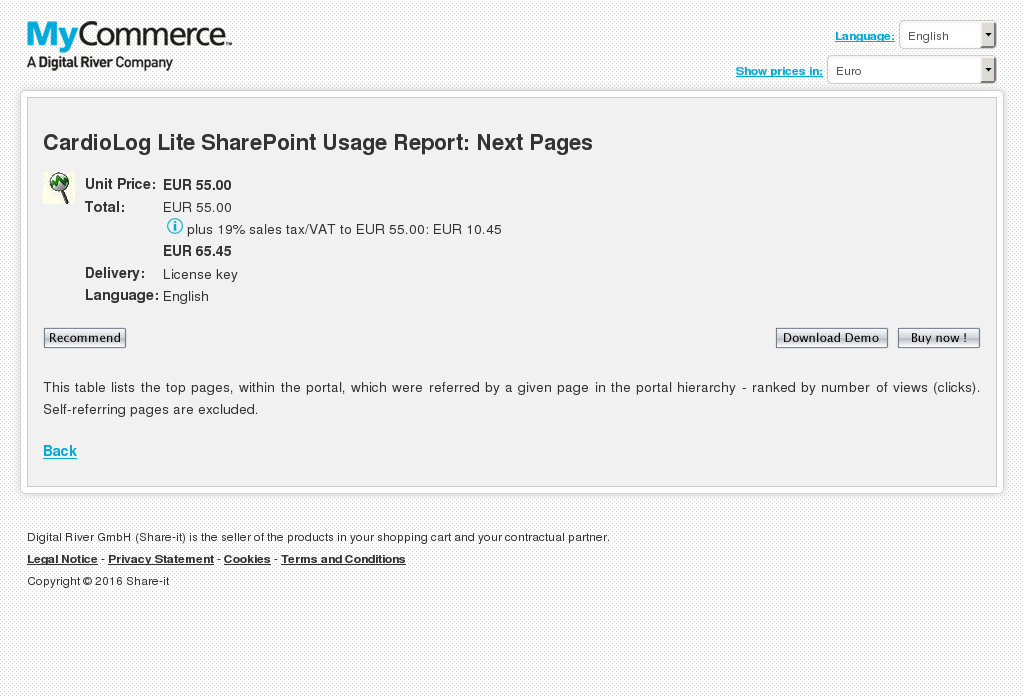 Cardiolog Lite Sharepoint Usage Report Next Pages Howto