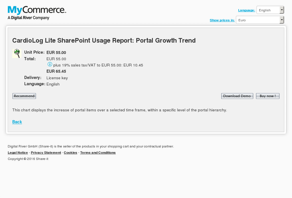 Cardiolog Lite Sharepoint Usage Report Portal Growth Trend Download
