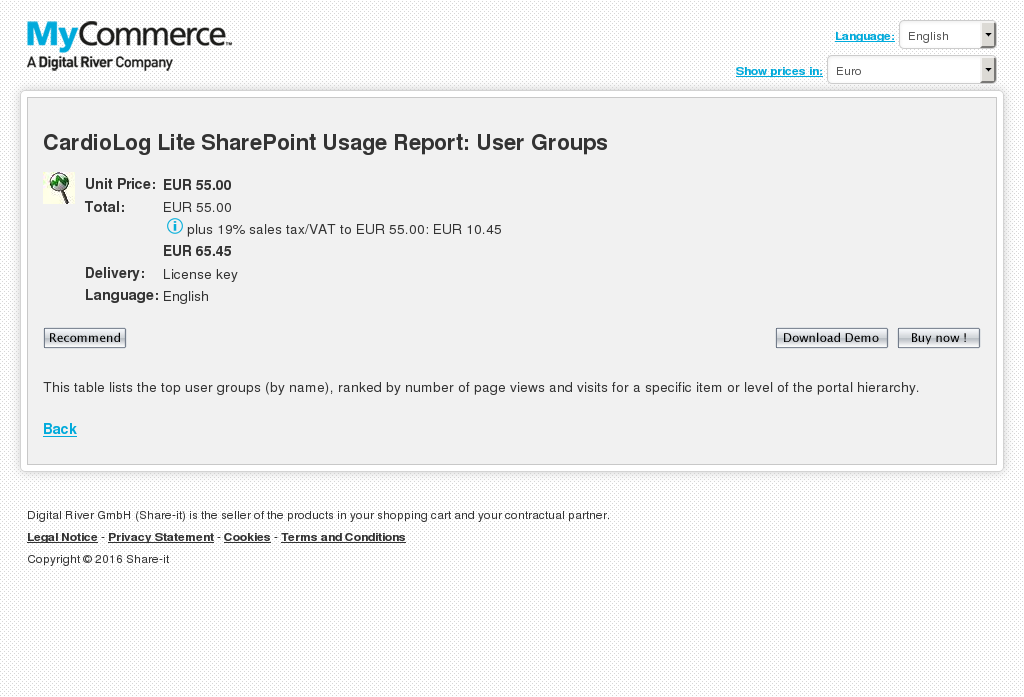 Cardiolog Lite Sharepoint Usage Report User Groups Free