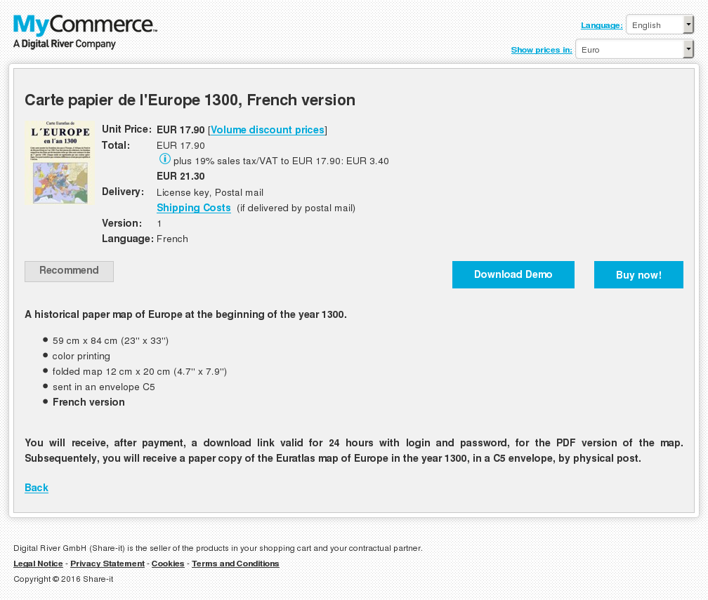 Carte Papier Europe French Version Download
