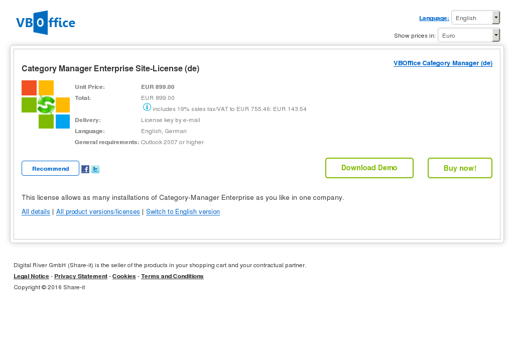 Category Manager Enterprise Site License Review