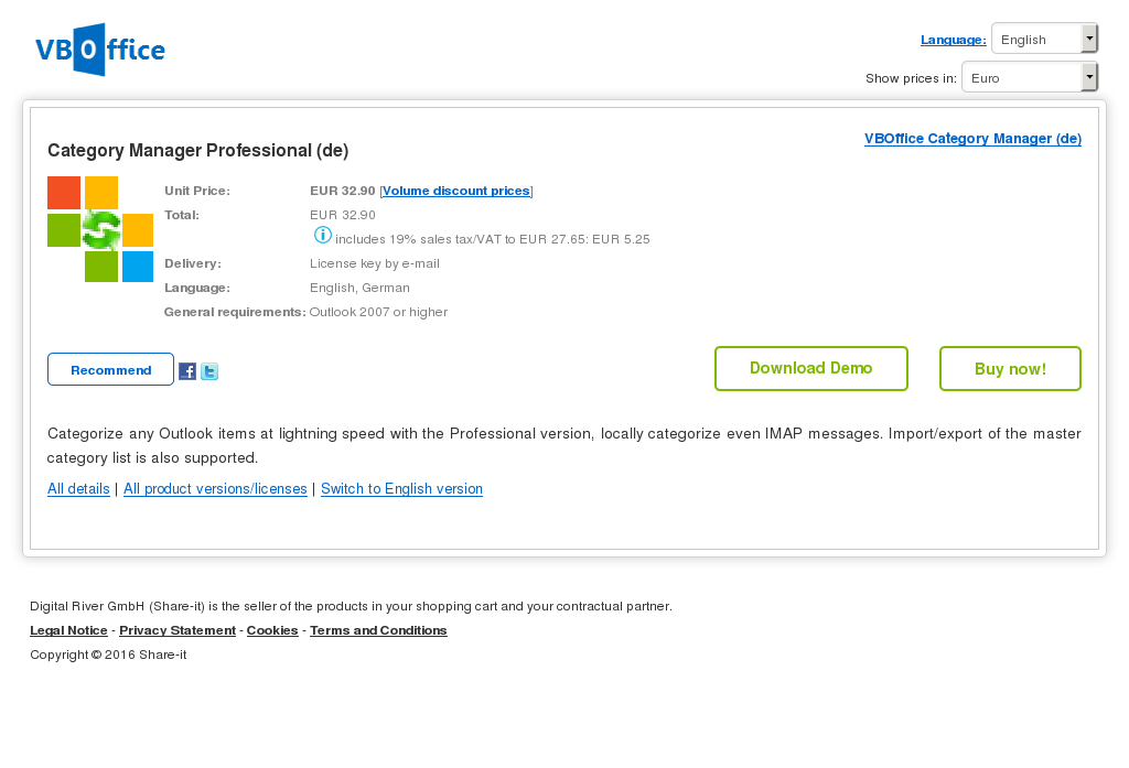 Category Manager Professional Free