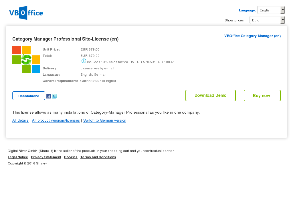 Category Manager Professional Site License Free