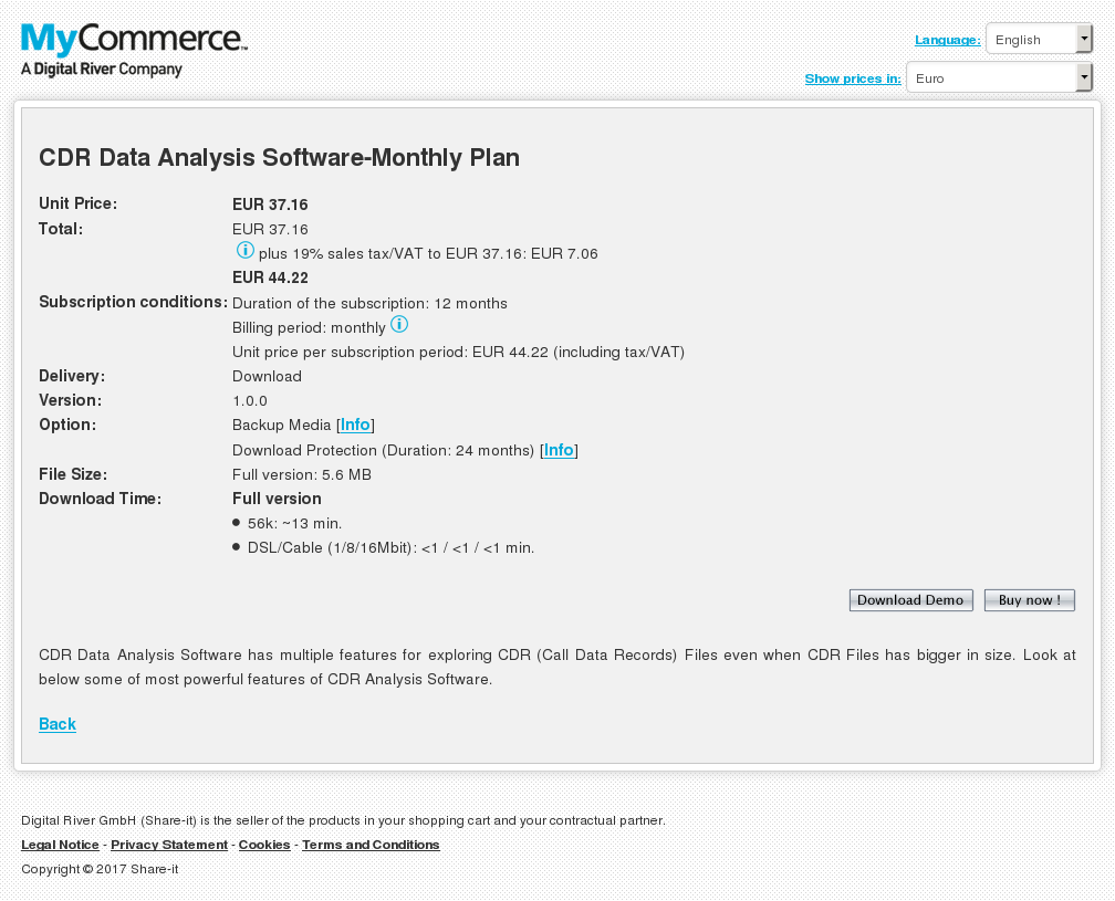 Cdr Data Analysis Software Monthly Plan Review