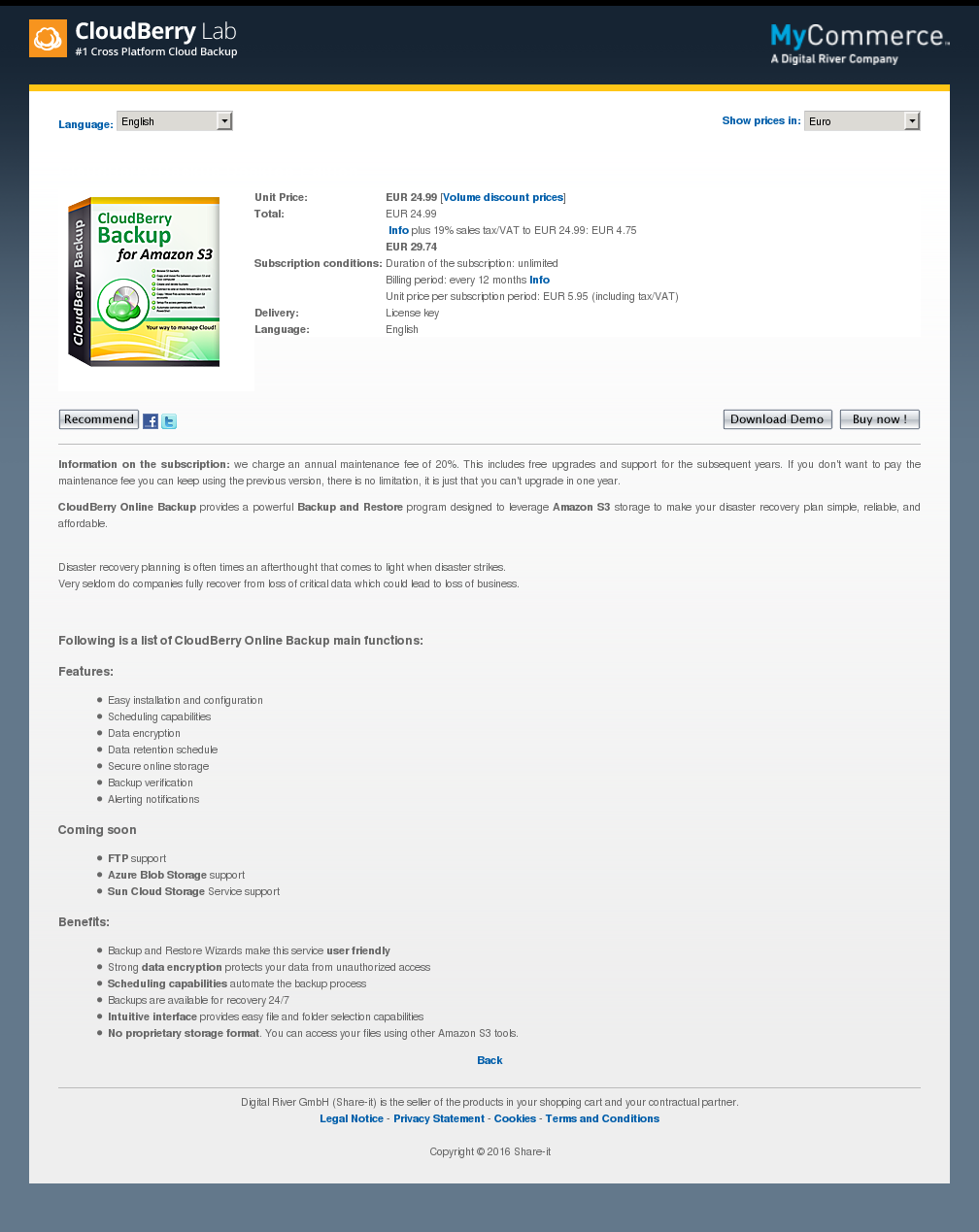Cloudberry Backup Desktop Edition Howto