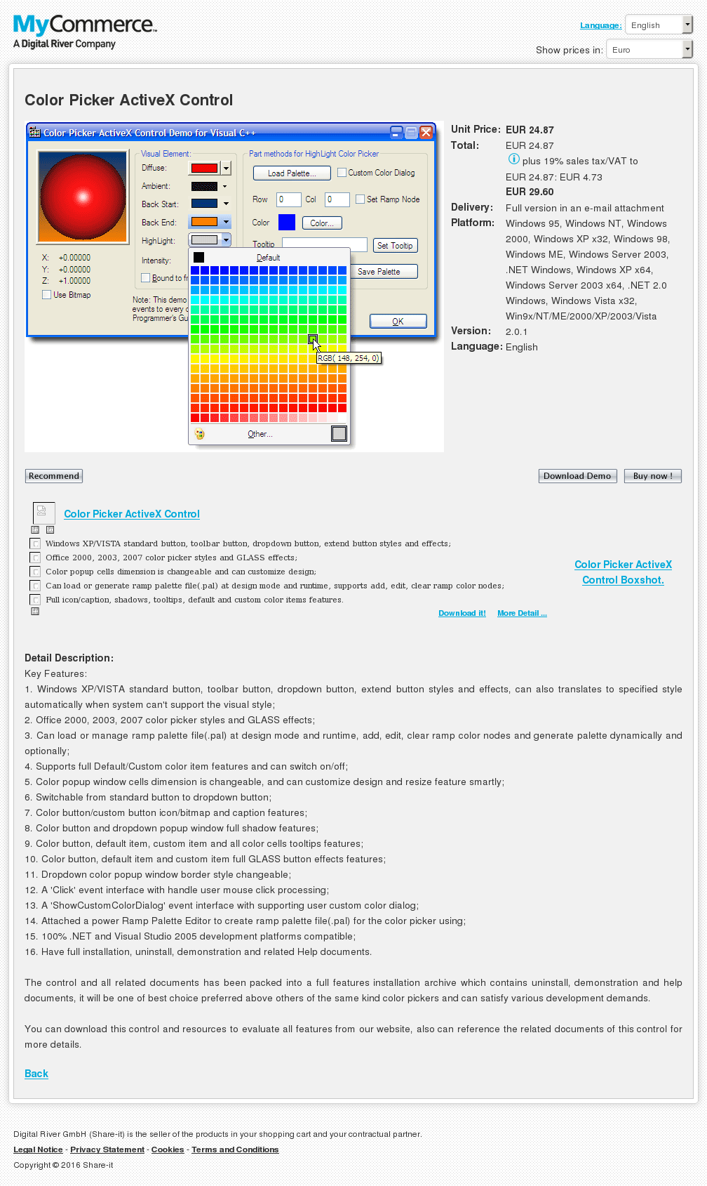 Color Picker Activex Control