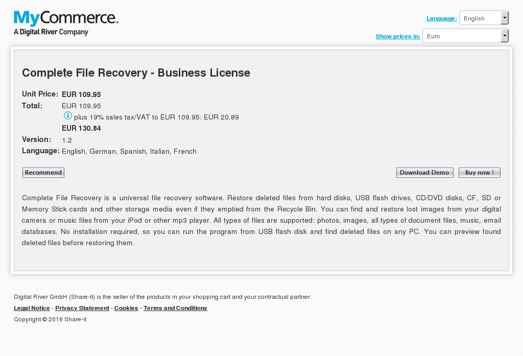 Complete File Recovery Business License Features