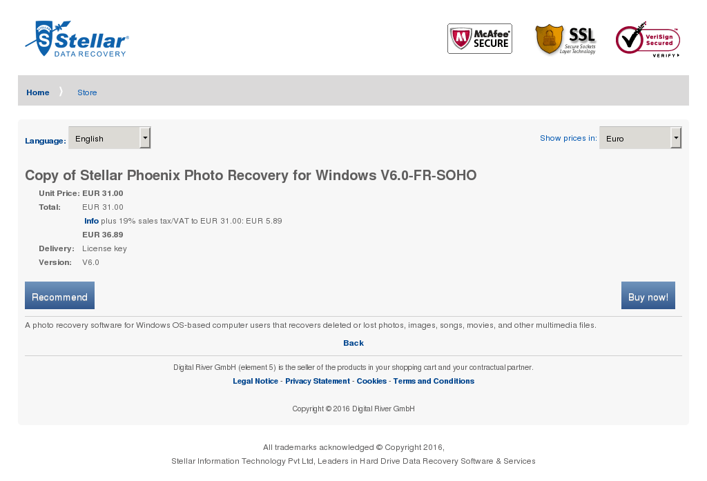 Copy Stellar Phoenix Photo Recovery Windows Soho Howto