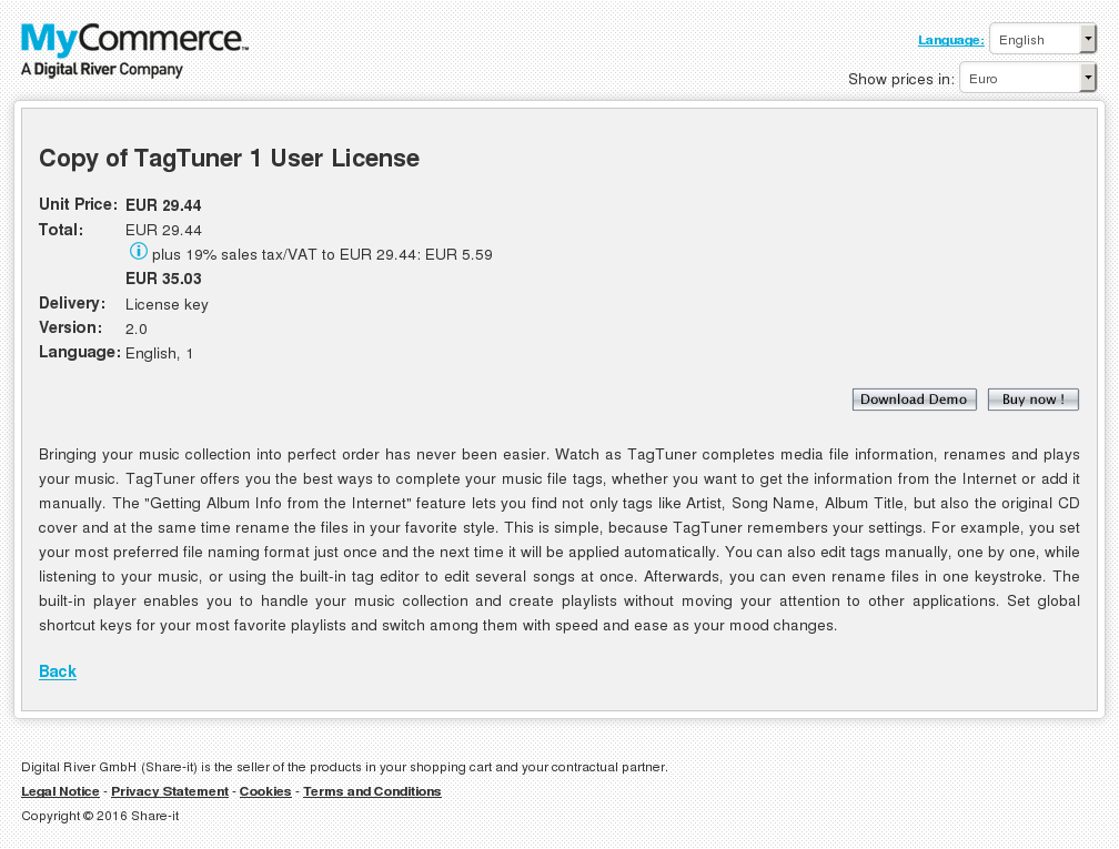 Copy Tagtuner User License Features