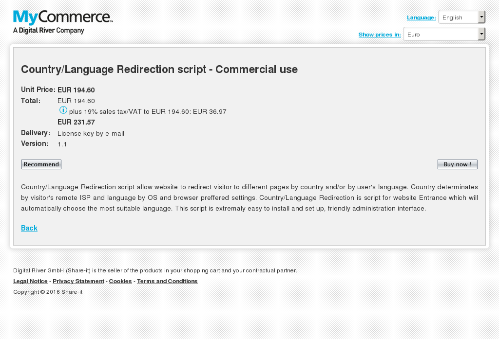 Country Language Redirection Script Commercial Use Review