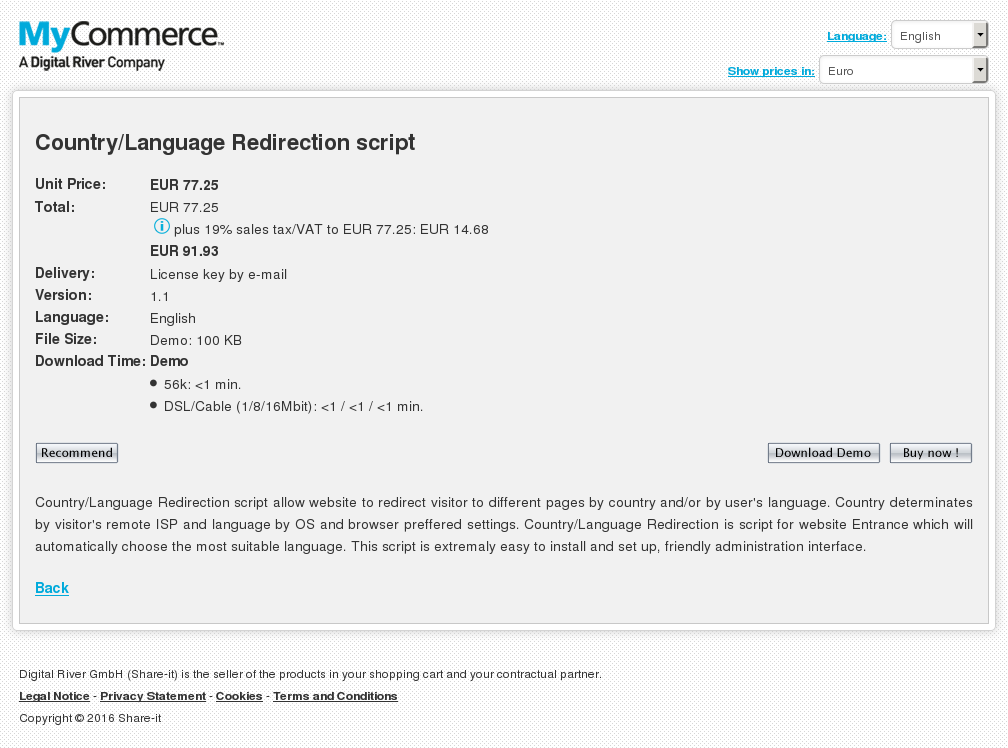 Country Language Redirection Script Free