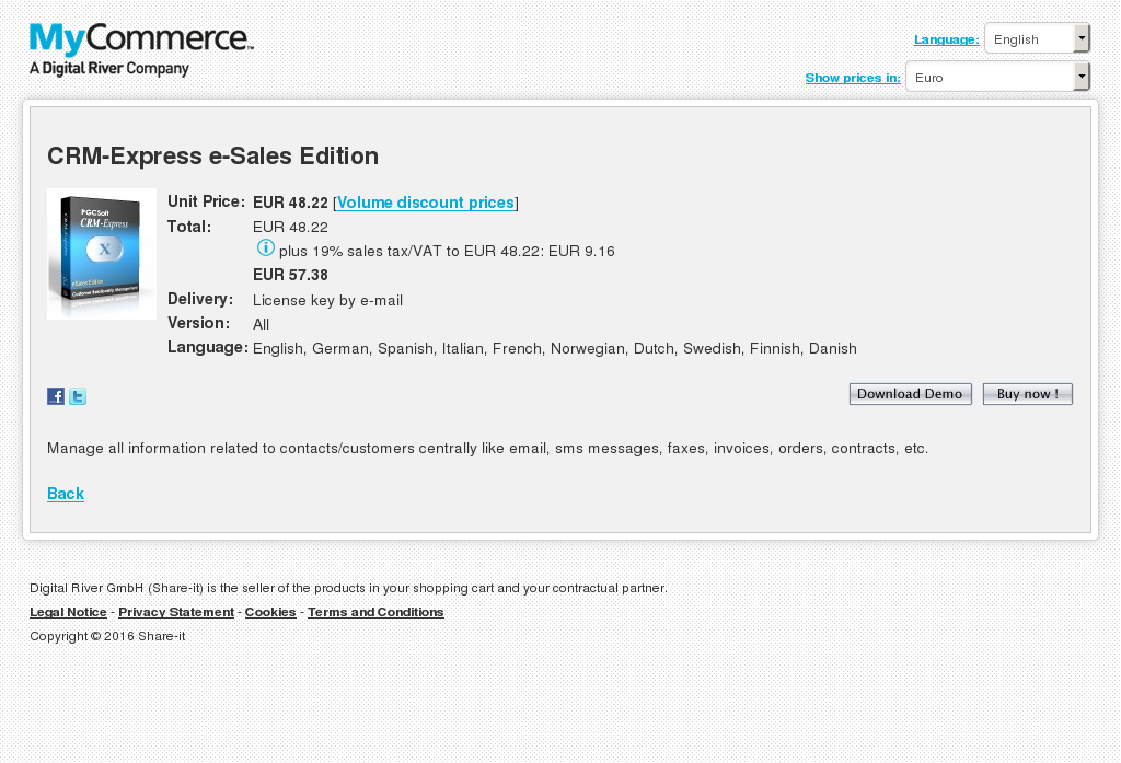 Crm Express Sales Edition Features