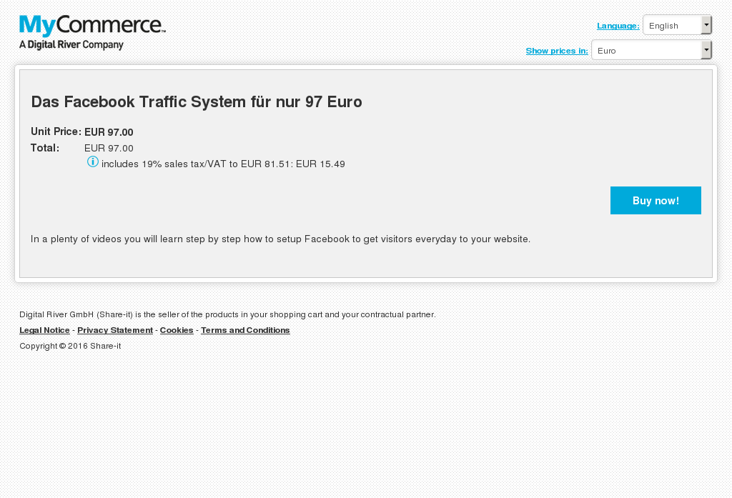 Das Facebook Traffic System Nur Euro Howto