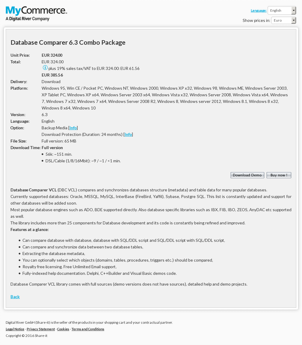 Database Comparer Combo Package