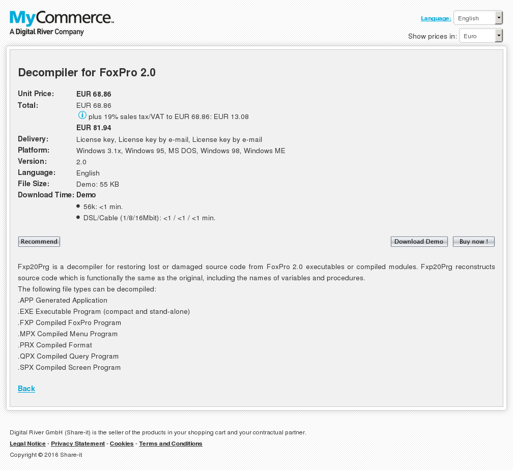 Decompiler Foxpro - Components Libraries and SDK Reviews