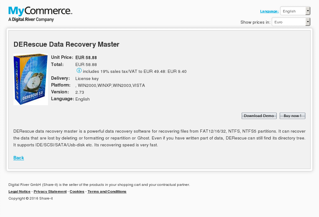 Derescue Data Recovery Master Howto