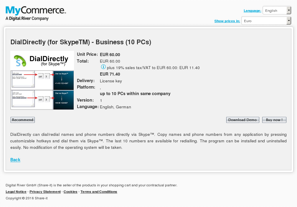 Dialdirectly Skypetm Business Pcs Features