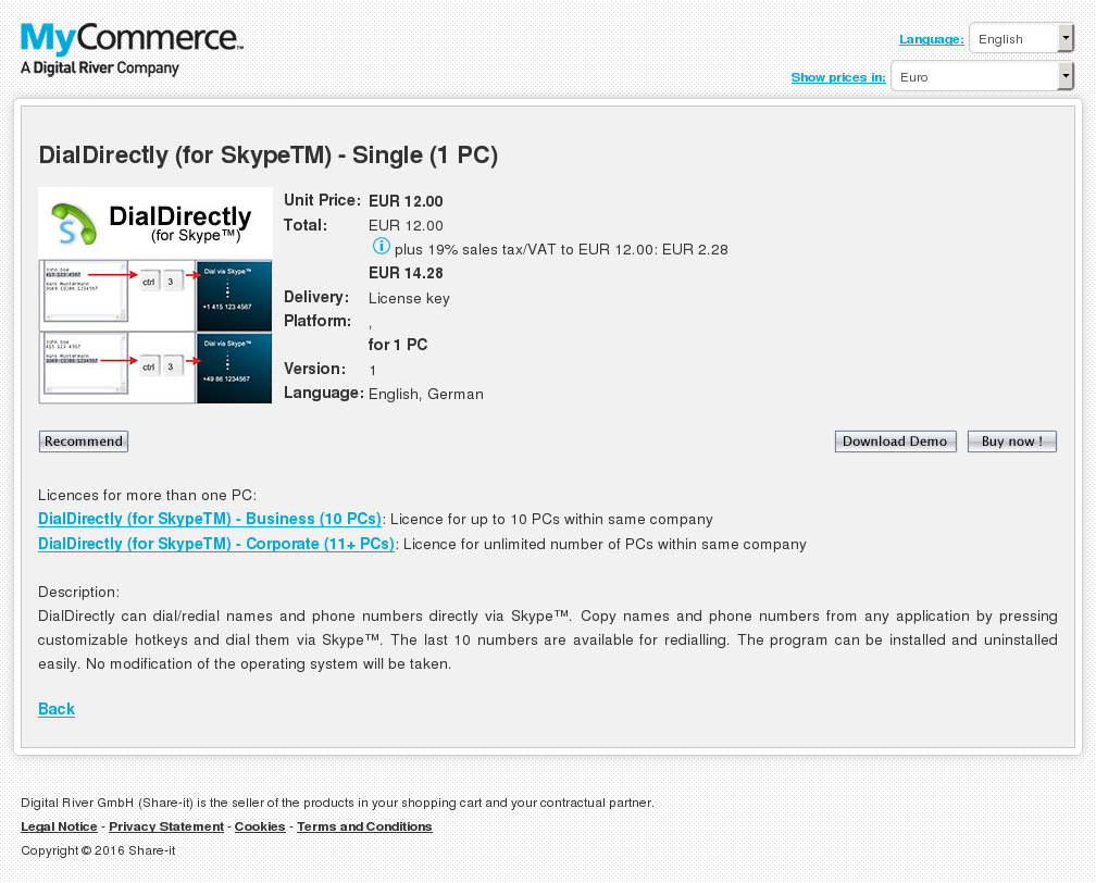 Dialdirectly Skypetm Single Download
