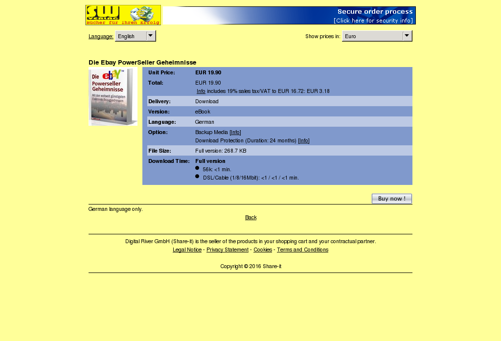 Die Ebay Powerseller Geheimnisse Key Information