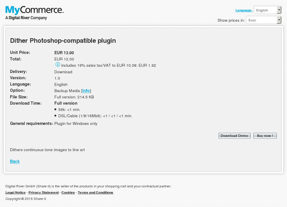 Dither Photoshop Compatible Plugin Free