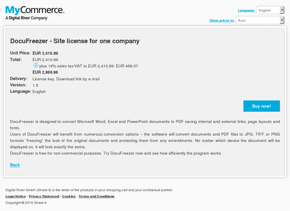 Docufreezer Site License One Company Review