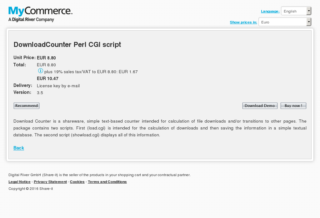 Downloadcounter Perl Cgi Script Key Information