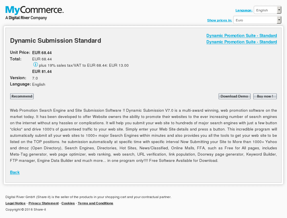 Dynamic Submission Standard Download