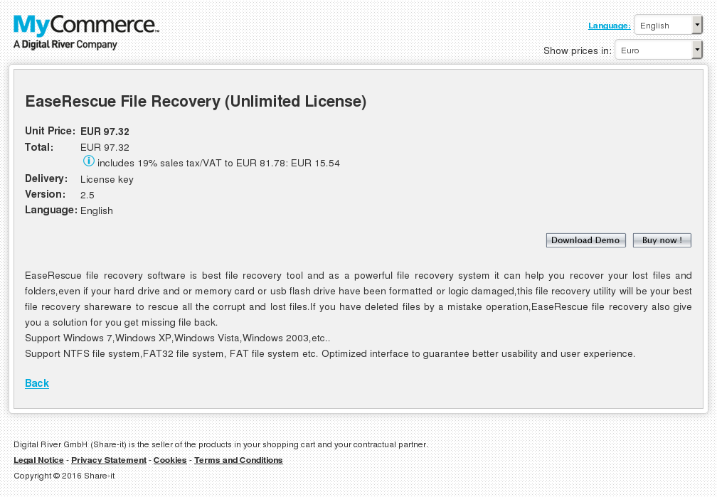 Easerescue File Recovery Unlimited License Download