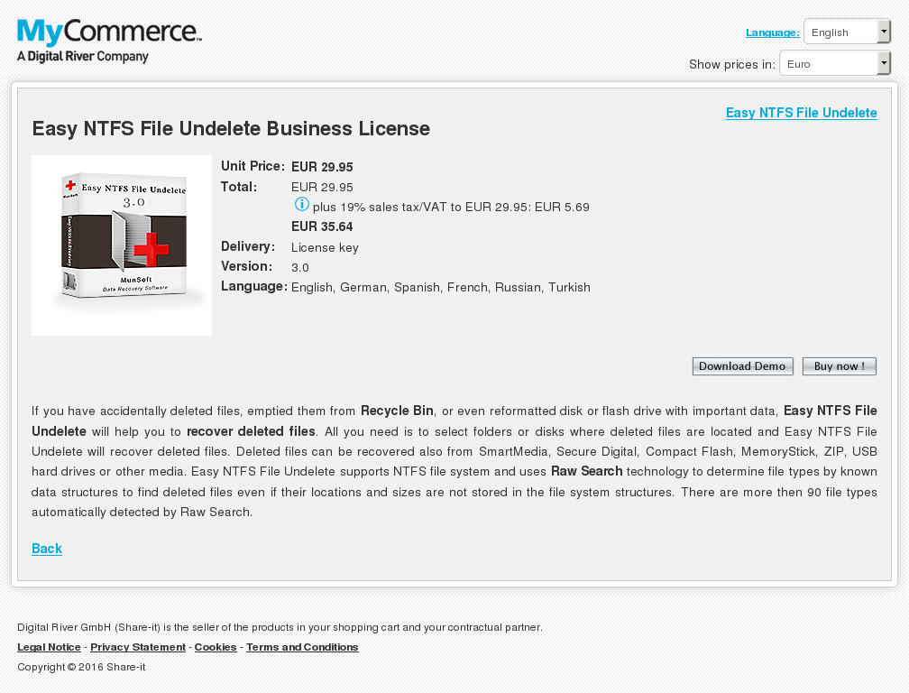 Easy Ntfs File Undelete Business License Download