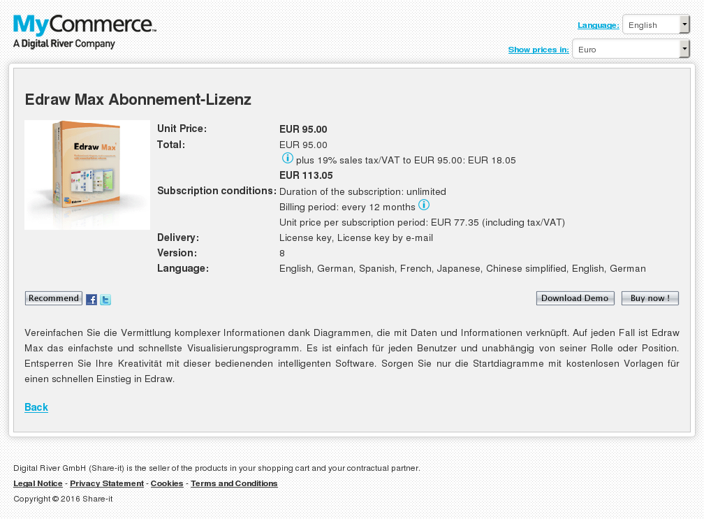 Edraw Max Abonnement Lizenz Download