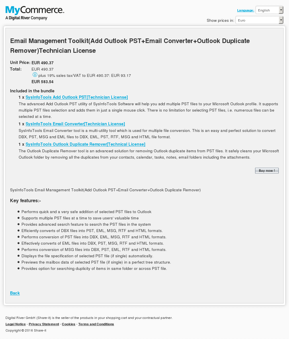 Email Management Toolkit Add Outlook Pst Converter Duplicate Remover Technician License Howto
