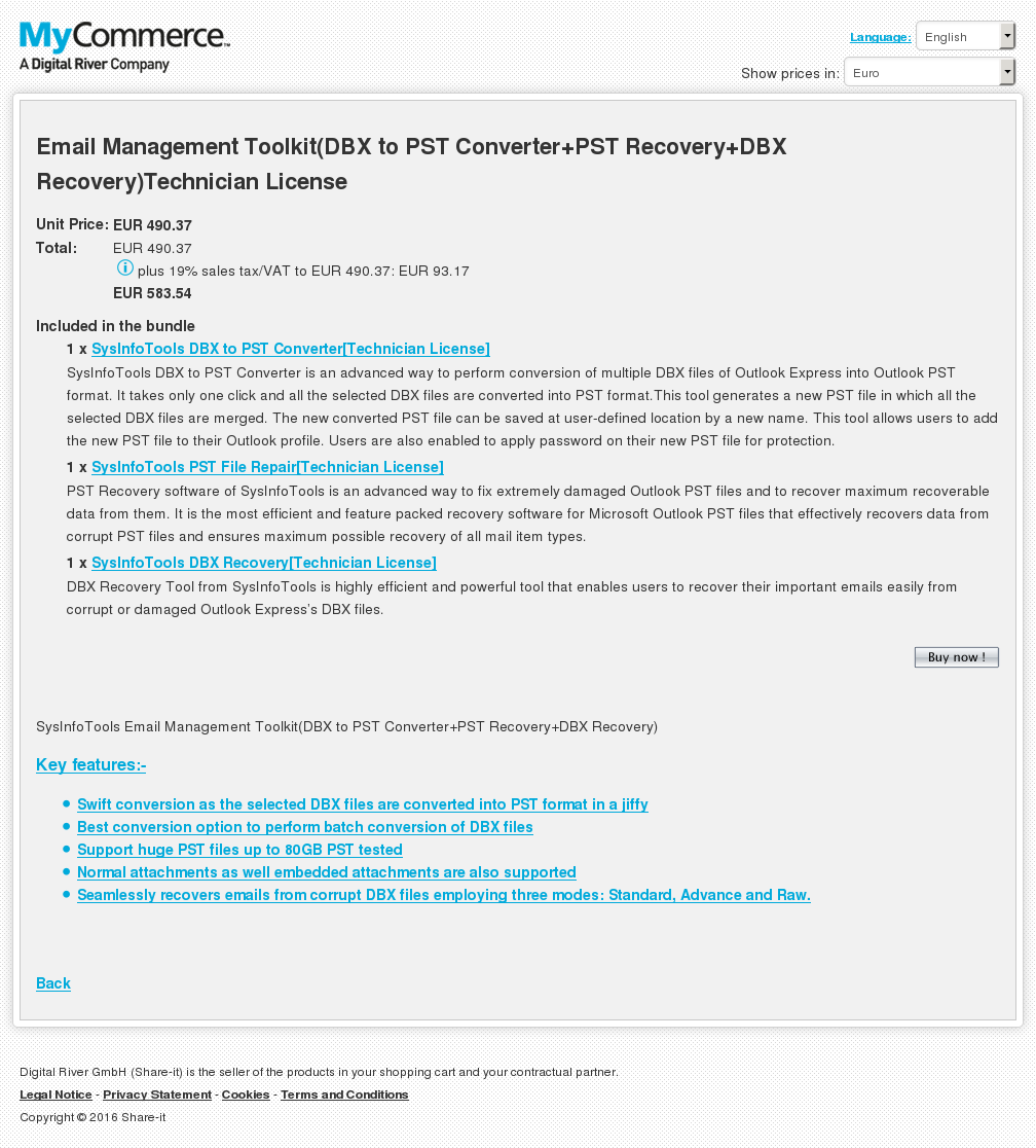 Email Management Toolkit Dbx Pst Converter Recovery Technician License Key Information