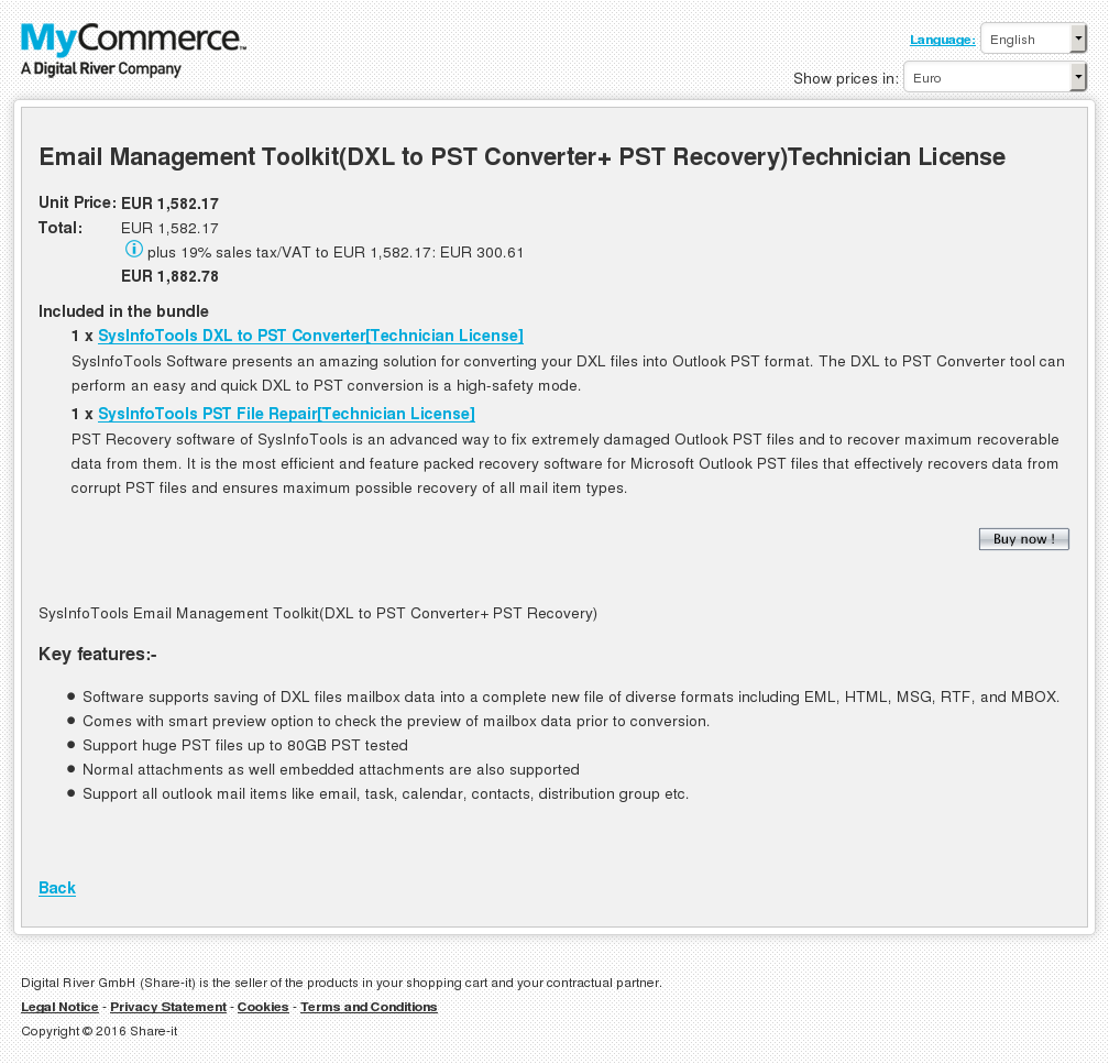 Email Management Toolkit Dxl Pst Converter Recovery Technician License Download