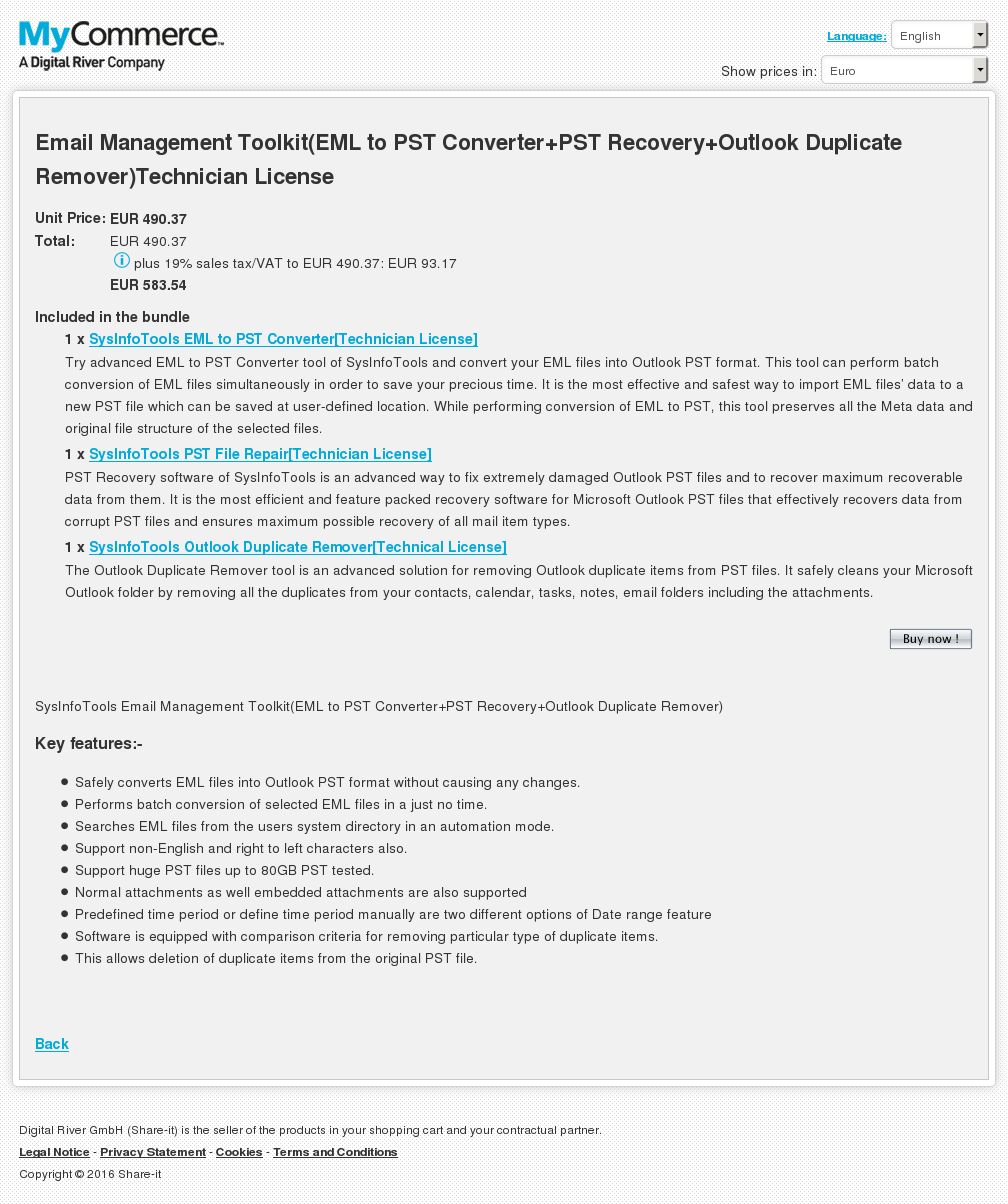 Email Management Toolkit Eml Pst Converter Recovery Outlook Duplicate Remover Technician License Howto