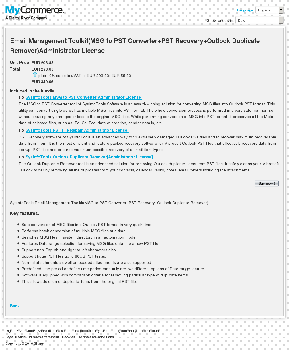 Email Management Toolkit Msg Pst Converter Recovery Outlook Duplicate Remover Administrator License Free