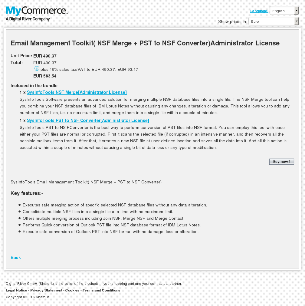Email Management Toolkit Nsf Merge Pst Converter Administrator License Download