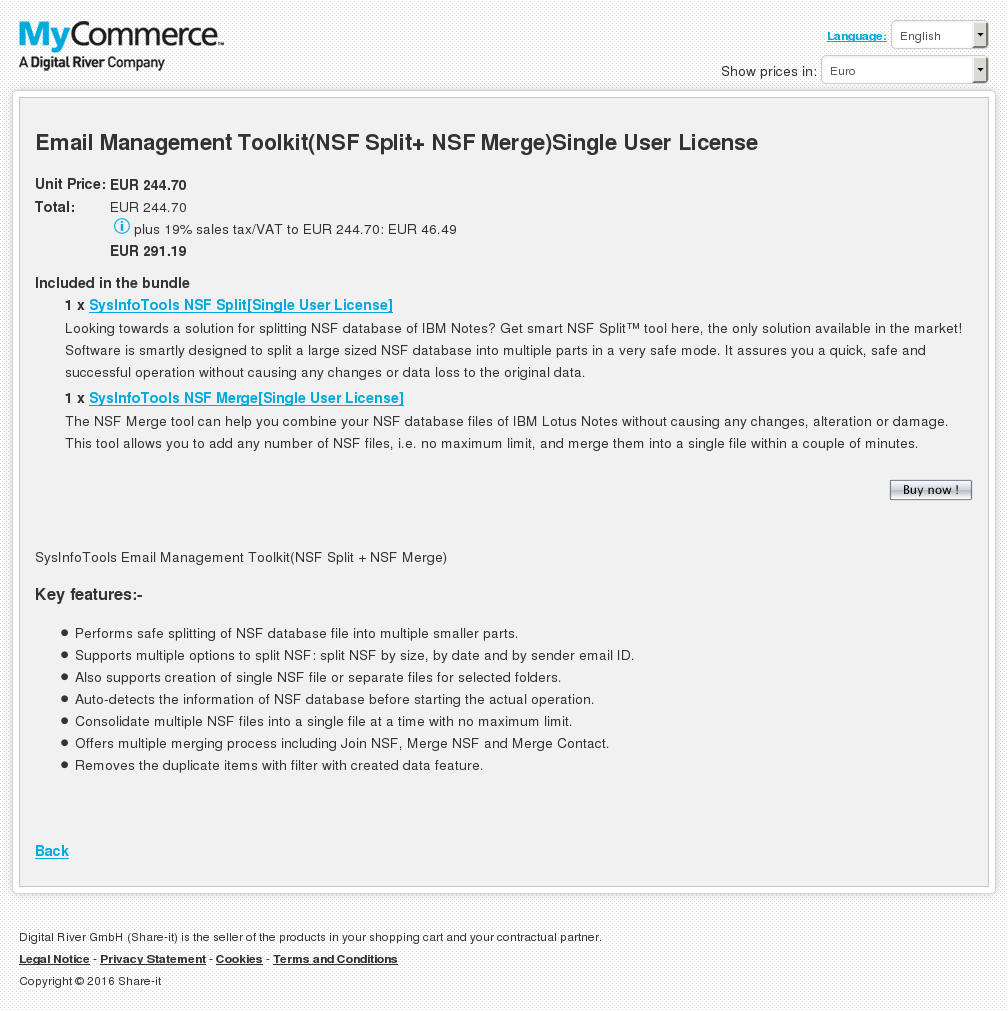 Email Management Toolkit Nsf Split Merge Single User License Review