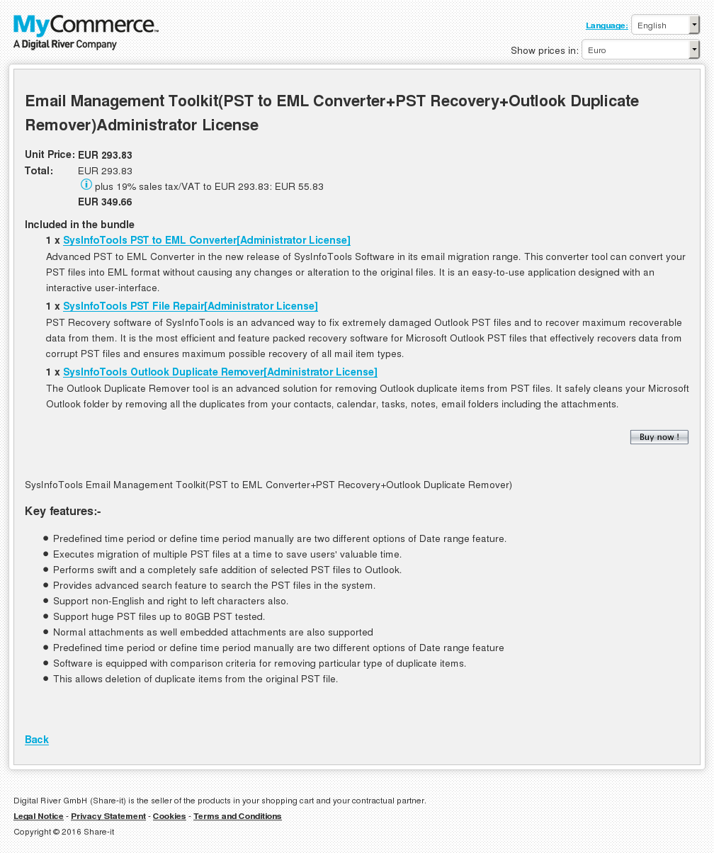 Email Management Toolkit Pst Eml Converter Recovery Outlook Duplicate Remover Administrator License Howto