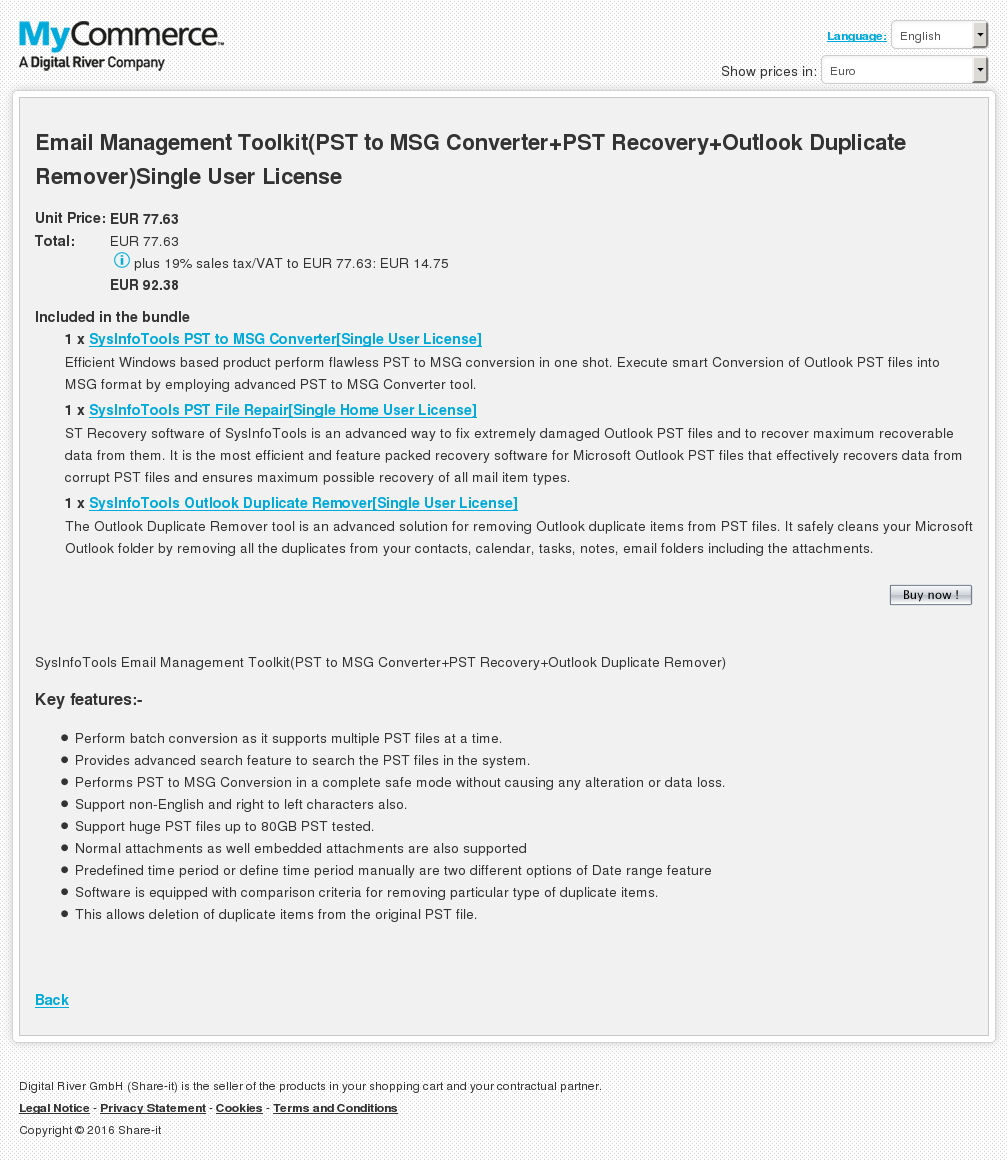 Email Management Toolkit Pst Msg Converter Recovery Outlook Duplicate Remover Single User License Alternative