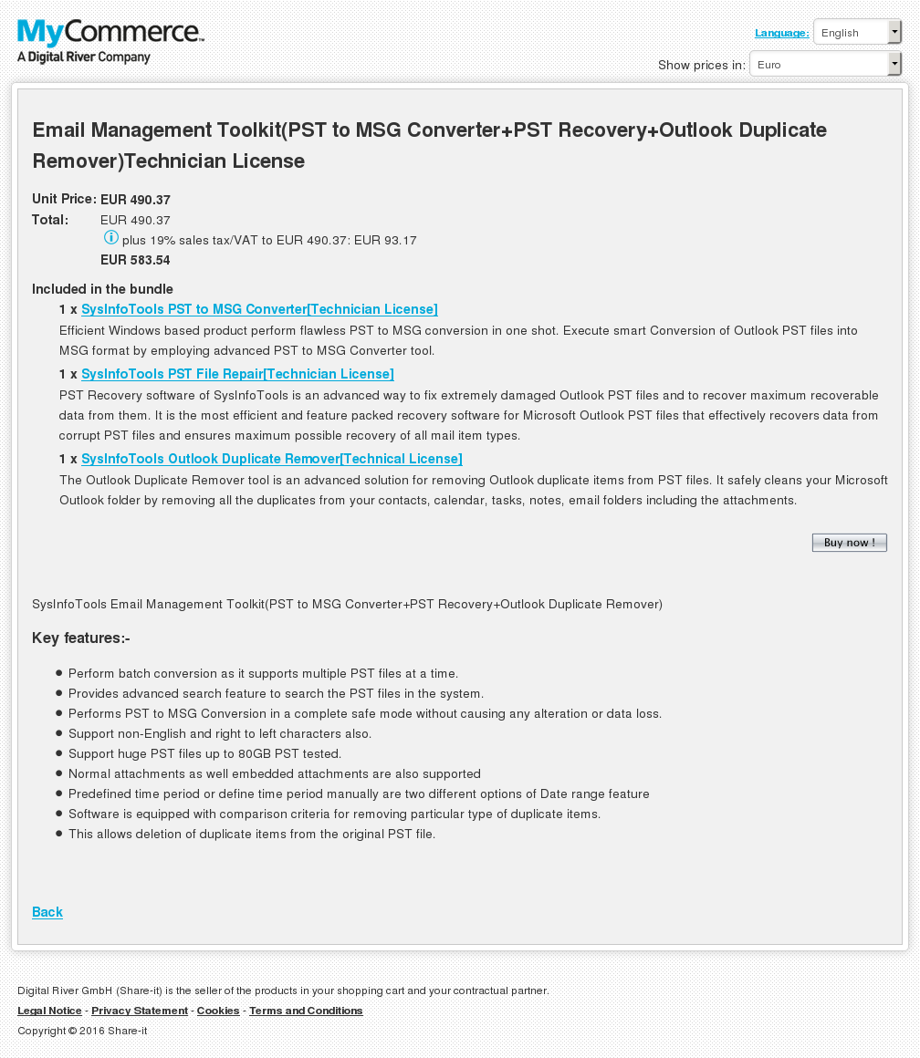 Email Management Toolkit Pst Msg Converter Recovery Outlook Duplicate Remover Technician License Alternative