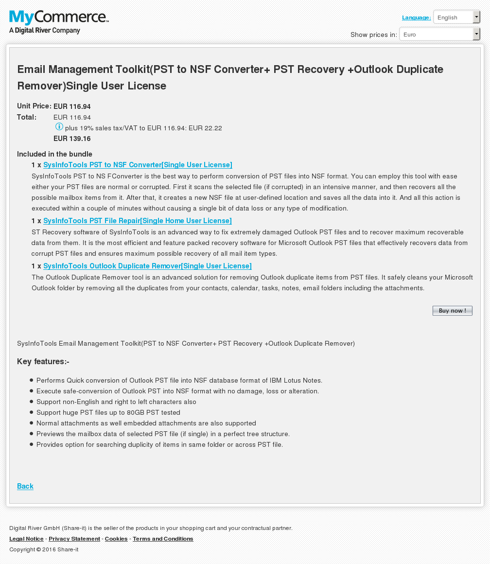 Email Management Toolkit Pst Nsf Converter Recovery Outlook Duplicate Remover Single User License Download