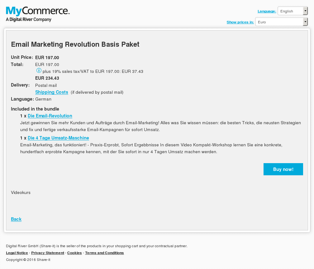 Email Marketing Revolution Basis Paket Howto