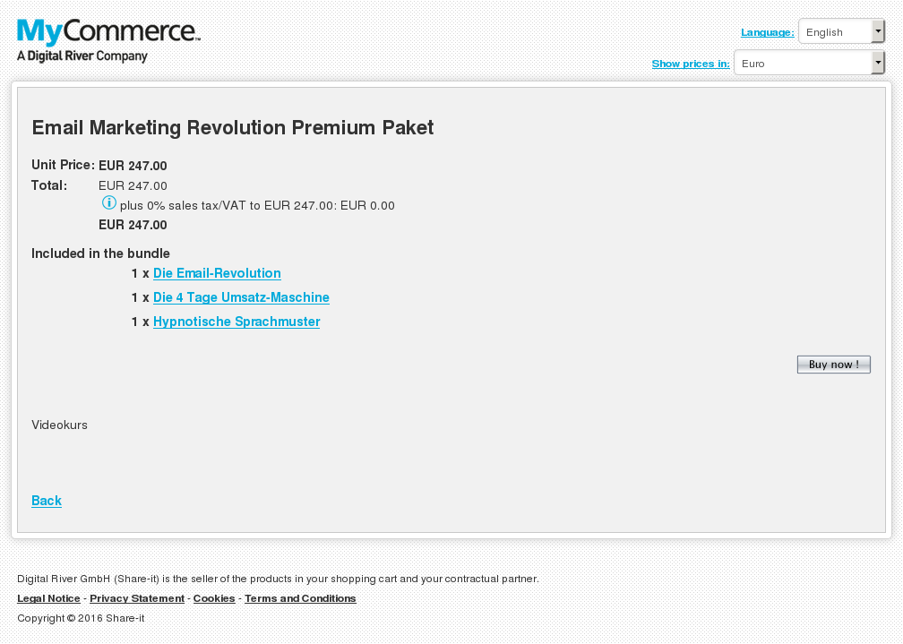Email Marketing Revolution Premium Paket Features