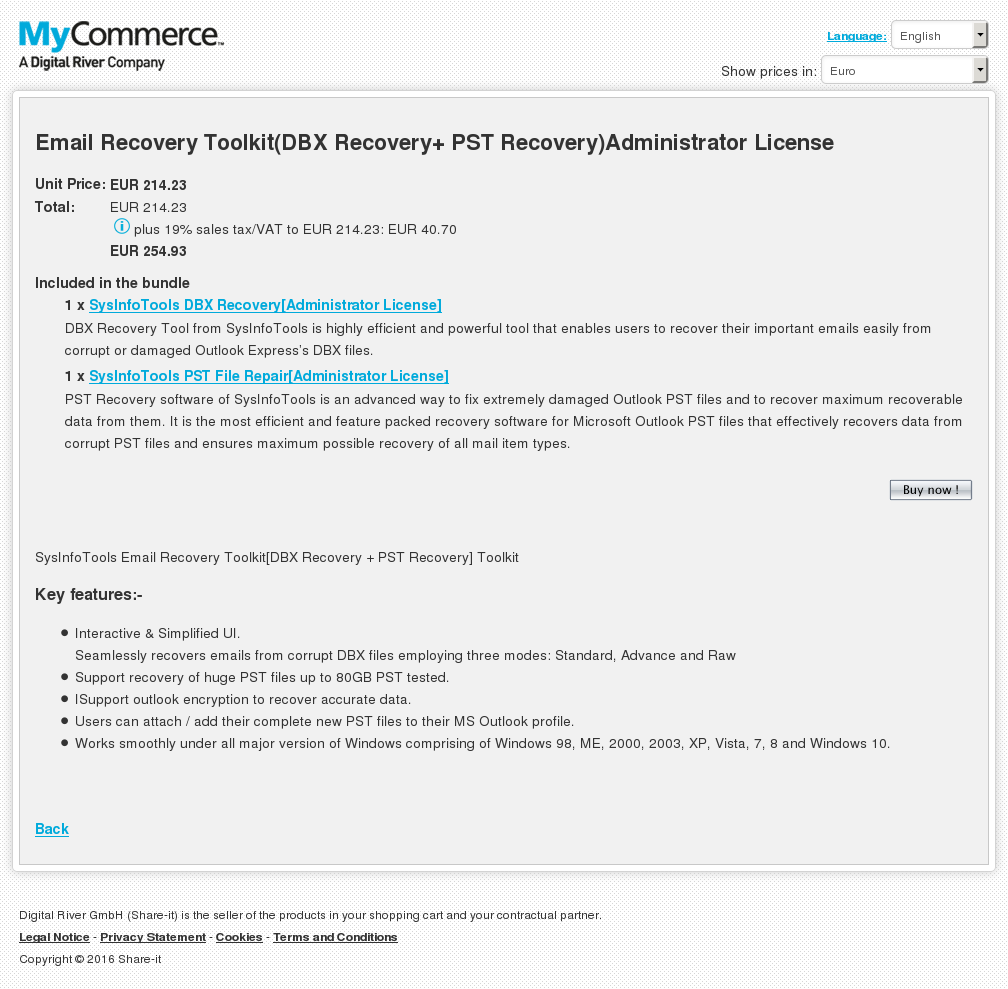 Email Recovery Toolkit Dbx Pst Administrator License Alternative