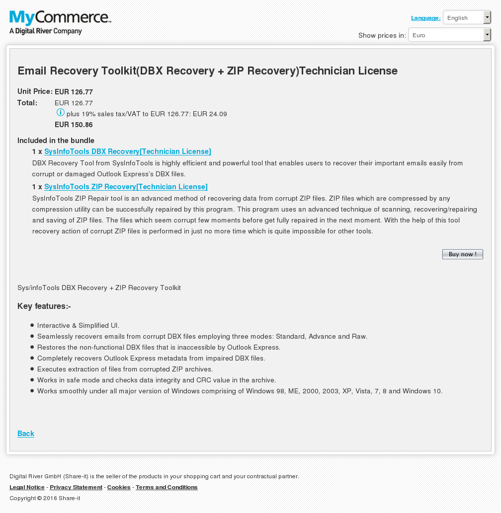 Email Recovery Toolkit Dbx Zip Technician License Alternative