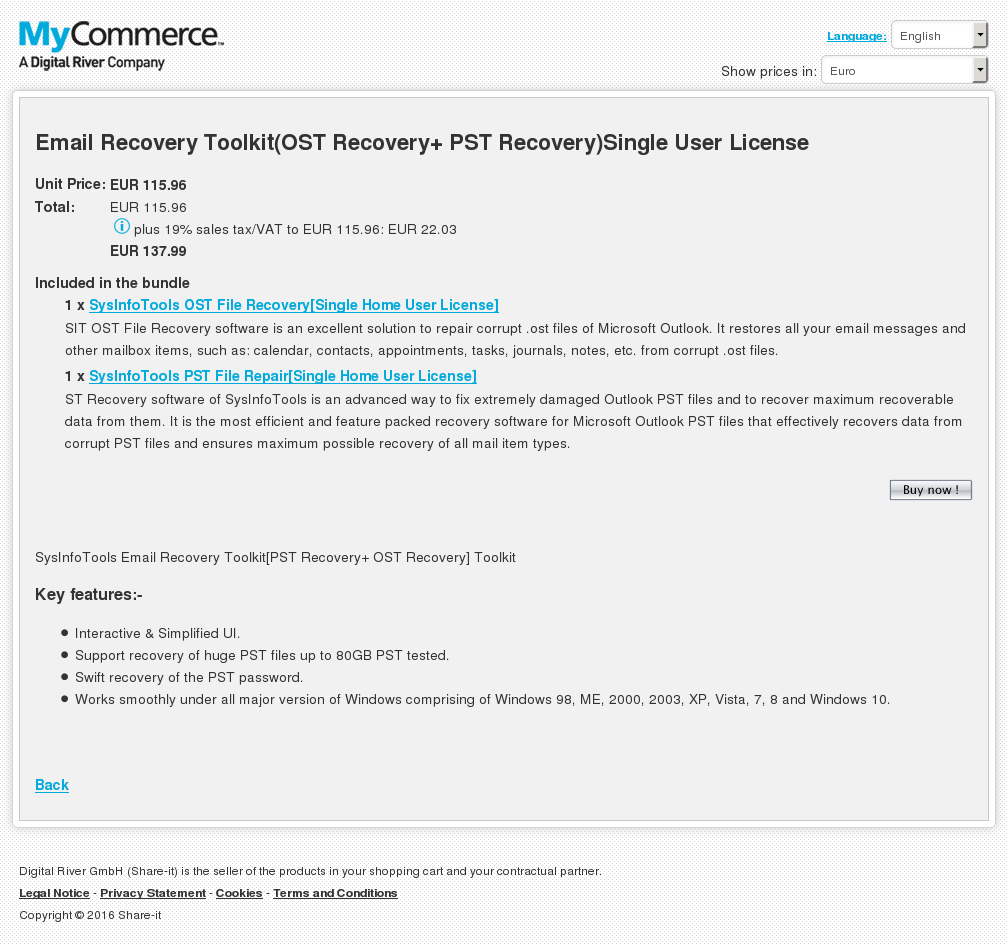 Email Recovery Toolkit Ost Pst Single User License Alternative