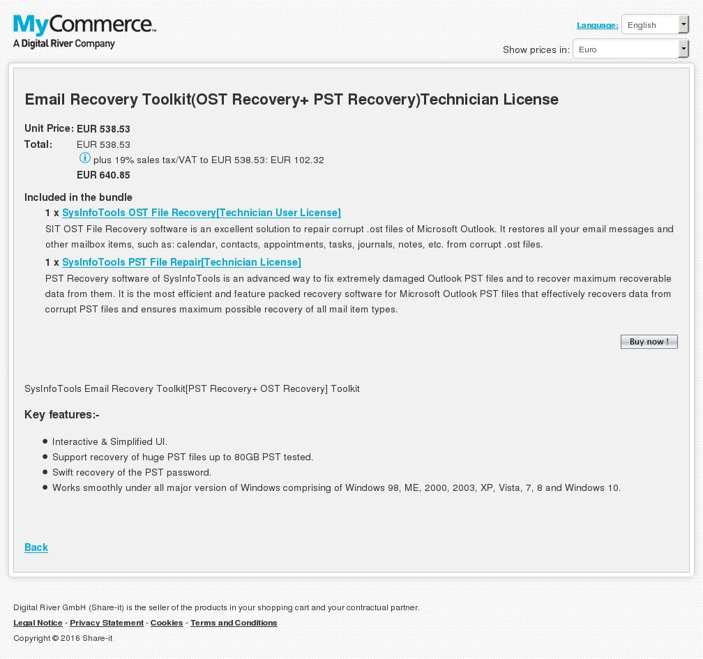 Email Recovery Toolkit Ost Pst Technician License Review