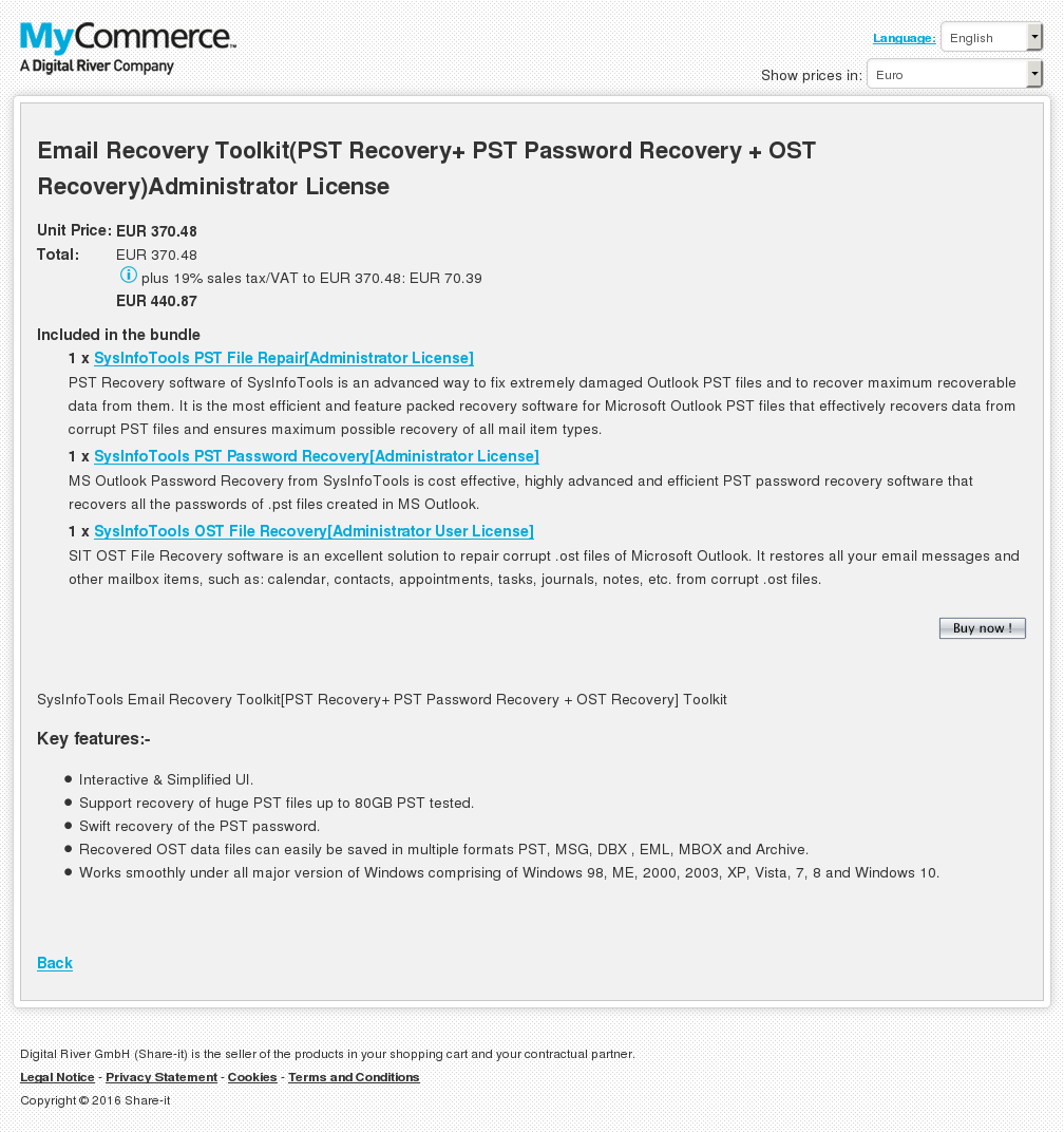 Email Recovery Toolkit Pst Password Ost Administrator License Features